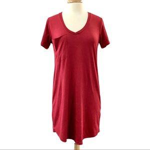 Z Supply Deep V neck T Shirt Dress